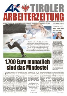 Tiroler Arbeiterzeitung März 2019 © AK Tirol