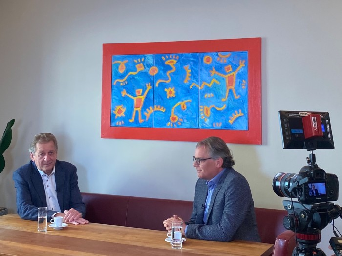 AK Tirol Präsident Erwin Zangerl im Interview mit Hubsi Trenkwalder © AK Tirol