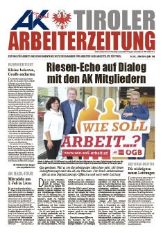 Tiroler Arbeiterzeitung - Ausgabe Juni 2018 © AK Tirol