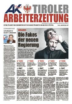 Tiroler Arbeiterzeitung - Ausgabe Mai 2018 © AK Tirol