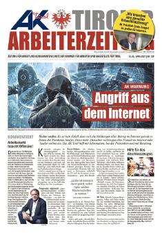 Tiroler Arbeiterzeitung Ausgabe April 2021 © AK Tirol