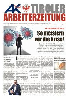 Tiroler Arbeiterzeitung Ausgabe Mai 2020 © AK Tirol