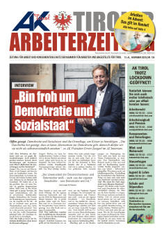 Tiroler Arbeiterzeitung Ausgabe November 2020 © AK Tirol