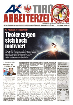 Tiroler Arbeiterzeitung Jänner 2020 © AK Tirol
