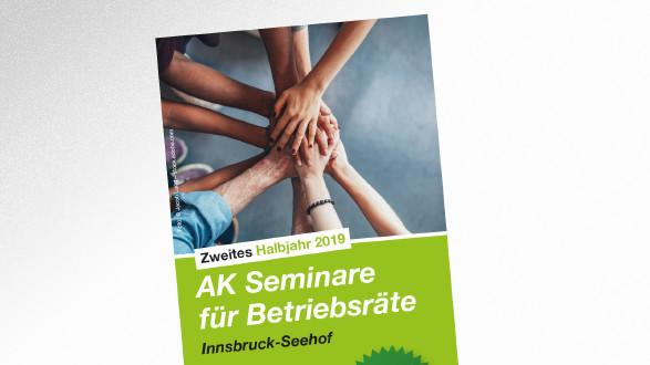 AK Seminare für Betriebsräte zweites Halbjahr 2019 © AK Tirol