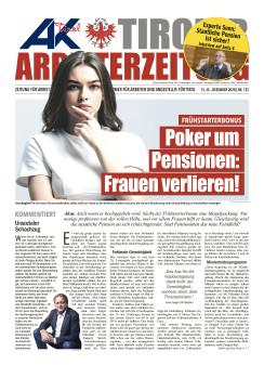 Tiroler Arbeiterzeitung Ausgabe Dezember 2020 © AK Tirol