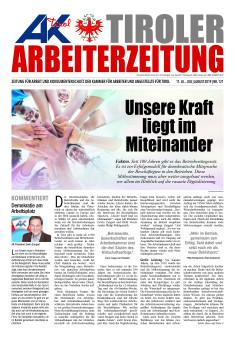 Titelseite Arbeiterzeitung Juli/August 2019 © AK Tirol