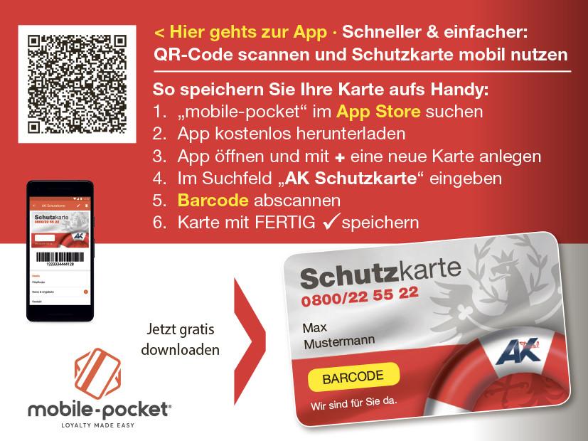 Mit App und QR-Code schneller zu den Leistungen der AK © AK Tirol