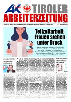 Titelseite der Mai-Ausgabe der AZ © AK Tirol