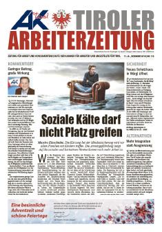 Titelseite AZ Dezember 2018 © AK Tirol