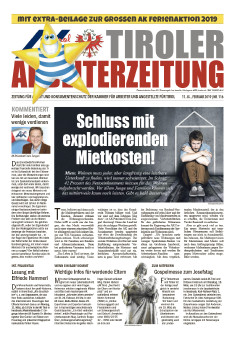 Titleseite AZ Februar 2019 © AK Tirol