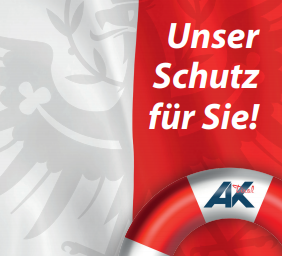 """Broschüre """"Unser Schutz für Sie!"""" © AK Tirol"""