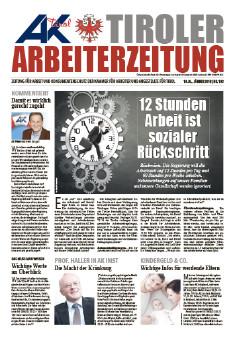 Tiroler Arbeiterzeitung - Ausgabe Jänner 2018 © AK Tirol
