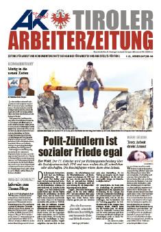 Tiroler Arbeiterzeitung Oktober 2017 © -, AK Tirol