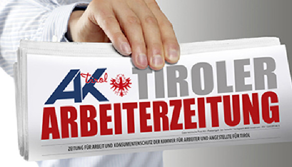 Hand mit Ausgabe der Tiroler Arbeiterzeitung © AK Tirol