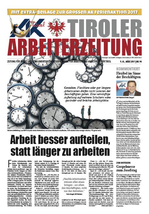 Tiroler Arbeiterzeitung Ausgabe März 2017 © -, AK Tirol