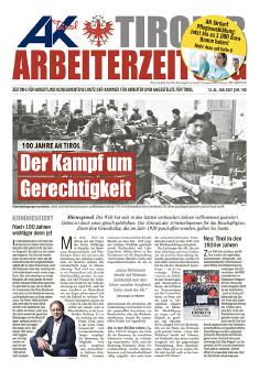 Tiroler Arbeiterzeitung Ausgabe Mai 2021 © AK Tirol
