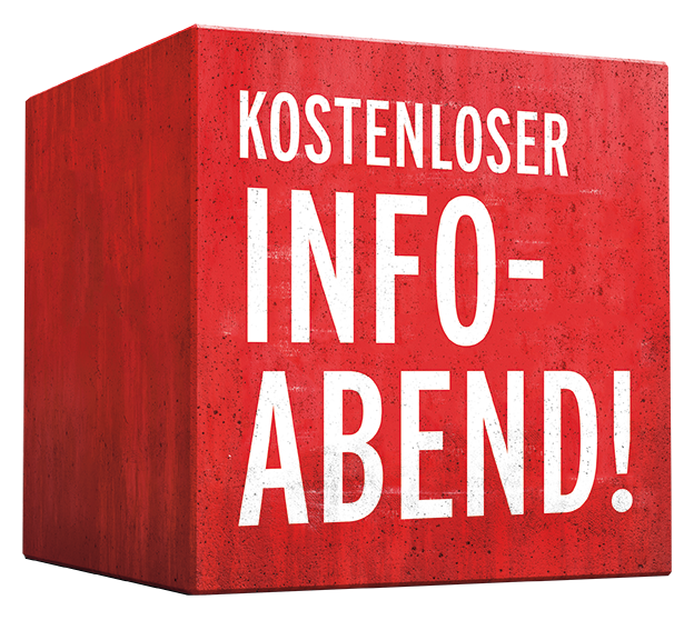 "roter Würfel mit der Aufschrift ""AK Infoabend"" © AK Tirol,"