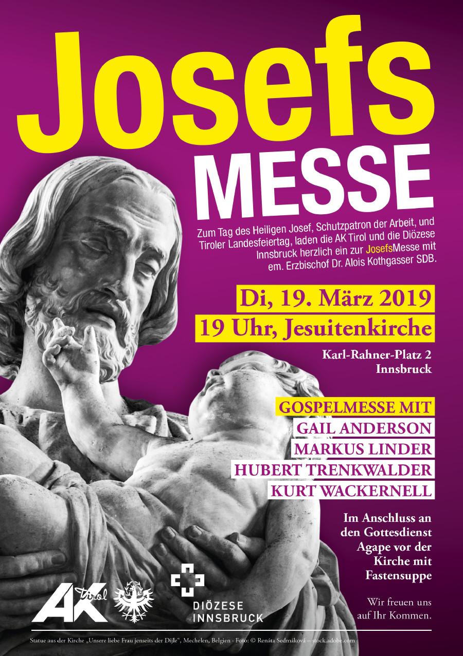 Plakat zur Josefsmesse am 19. März 2019 © AK Tirol