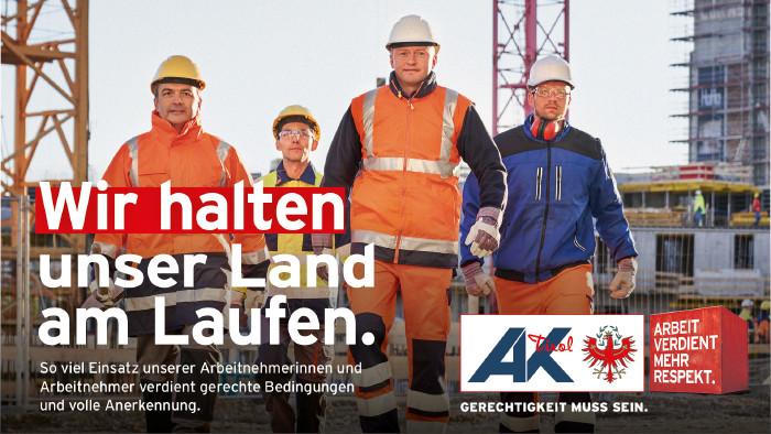 Wir halten unser Land am Laufen © AK