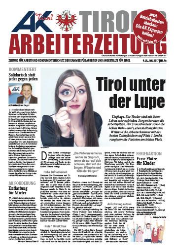 Tiroler Arbeiterzeitung Ausgabe Mai 2016 © -, AK Tirol