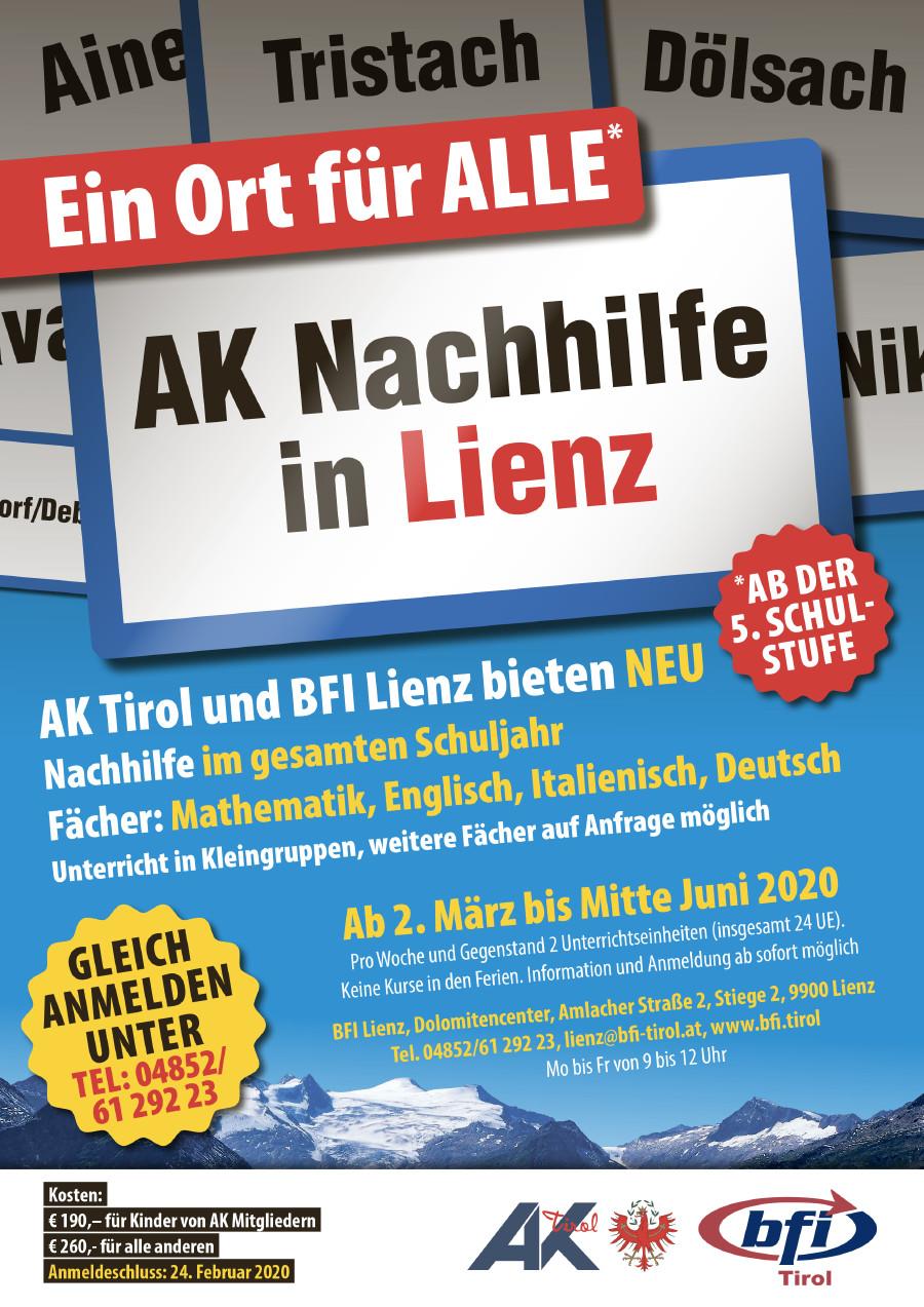 Neu Ak Und Bfi Bieten Nachhilfe In Lienz Arbeiterkammer Tirol