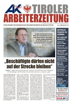 Tiroler Arbeiterzeitung März 2020 © AK Tirol