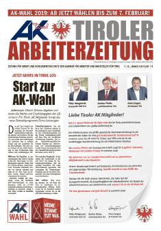 Titelseite der AK Tirol vom Jänner 2019 © AK Tirol