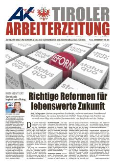 Titelseite Ausgabe Oktober 2019 © AK Tirol