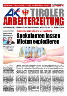 Titelseite AZ Ausgabe November 2019 © AK Tirol