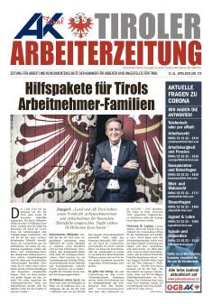 Tiroler Arbeiterzeitung Ausgabe April 2020 © AK Tirol