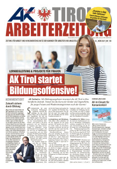 Tiroler Arbeiterzeitung Ausgabe März 2021 © AK Tirol