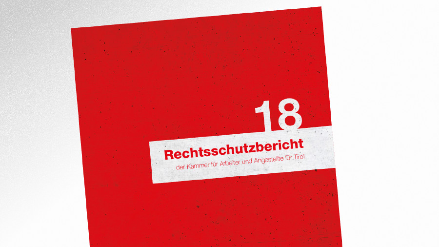 Broschüre Rechtsschutzbericht 2018 © AK Tirol