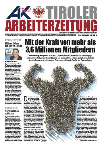 Tiroler Arbeiterzeitung Ausgabe Juli/August 2016 © -, AK Tirol